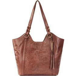 Seirra Embossed Leather Shopper