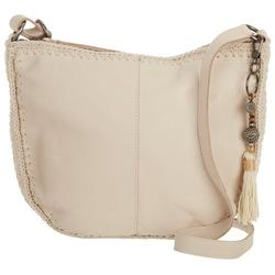 Ryder Leather And Crochet Bamboo Crossbody