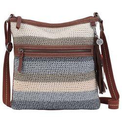 THE SAK Lucia Crochet Desert Stripe Crossbody Handbag