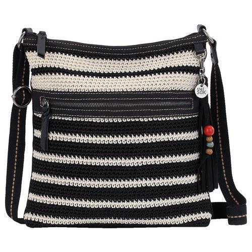The Sak Lucia Crochet Black Stripe Crossbody Handbag Bealls Florida