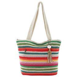 THE SAK Riveria Crochet Striped Tote Handbag