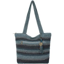 THE SAK Riveria Crochet Striped Tote Handbag