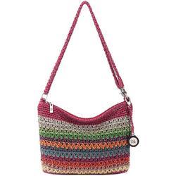 3-in-1 Colorful Crochet Striped Crossbody Handbag