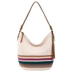 THE SAK Sequoia Stone Stripe Crochet Hobo Handbag