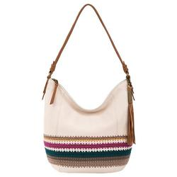 Sequoia Stone Stripe Crochet Hobo Handbag