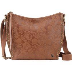 THE SAK Saratoga Embossed Floral Design Crossbody Handbag