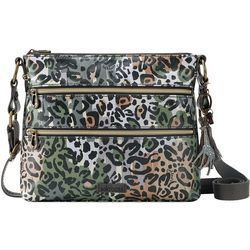 Sakroots Slate Spotted Wildlife Basic Crossbody Handbag