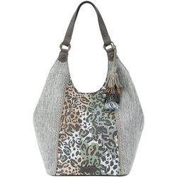 Sakroots Slate Spotted Wildlife Roma Shopper Handbag