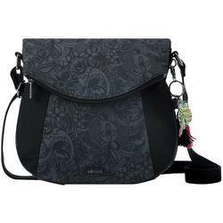 Sakroots Black Tonal Spirit Foldover Crossbody Handbag