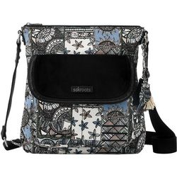 Sakroots Black Desert Patch Flap Crossbody Handbag