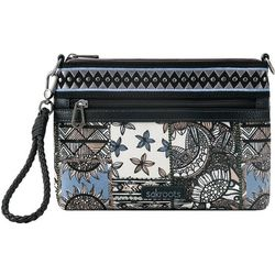 Sakroots Campus Mini Black Desert Patch Crossbody Handbag