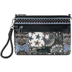 Sakroots Campus Mini Black Desert Patch Crossbody Handbag