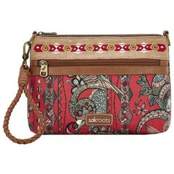 Sakroots Campus Mini Crimson Crossbody Handbag