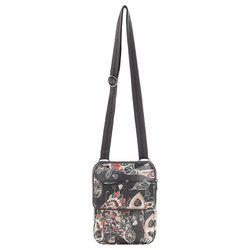 Sakroots Shadow Songbird Flap Messenger Crossbody Handbag