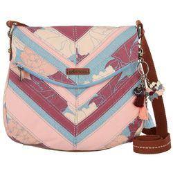 Sakroots Petal Peony Foldover Crossbody Handbag