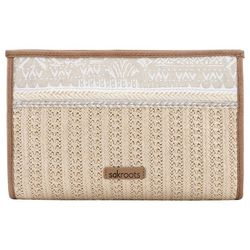 Sakroots White Tribal Beauti Roma Mini Crossbody Handbag