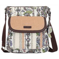Sakroots Pastel Spirit Flap Crossbody Handbag