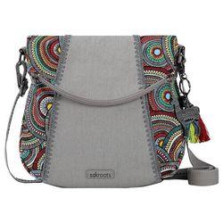 Sakroots Mosaic Wanderlust Foldover Crossbody Handbag