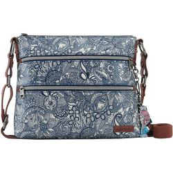 Sakroots Navy Blue Spirit Basic Crossbody Handbag