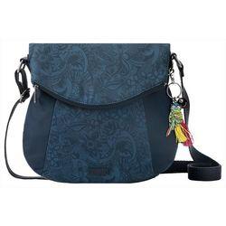 Sakroots Indigo Blue Foldover Crossbody Handbag