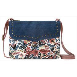 Sakroots Austen Double Compatment Floral Crossbody Handbag