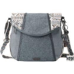 Sakroots Natural Brave Foldover Crossbody Handbag
