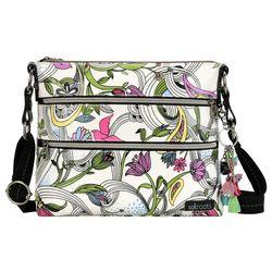 Sakroots White Peace Dove Basic Crossbody Handbag