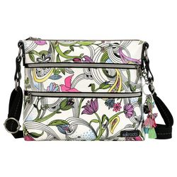 Sakroots White Peace Dove Basic Crossbody Handbag