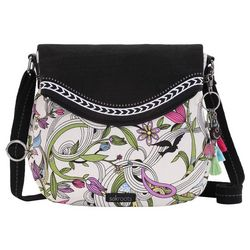 Sakroots White Peace Dove Foldover Crossbody Handbag