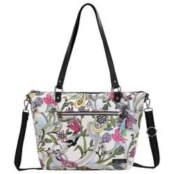 Sakroots White Peace Dove City Tote Handbag