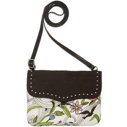 Sakroots White Peace Dove Austen Crossbody Handbag