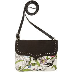 Sakroots White Peace Dove Austen Crossbody Handbag