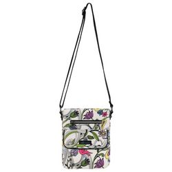 Sakroots White Peace Dove Small Flap Messenger Handbag