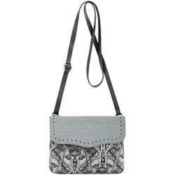 Sakroots Austen Double Compatment Dove Crossbody Handbag