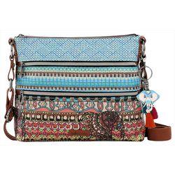 Sakroots Aqua Blue One World Basic Crossbody Handbag