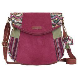 Sakroots Mulberry Fold Over Crossbody Handbag