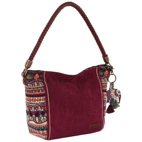 Sakroots Elsa Mulberry Small Hobo Handbag  08c5b8533944a