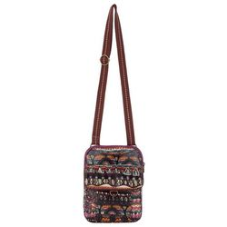 Sakroots Mulberry Small Flap Messenger Crossbody Handbag