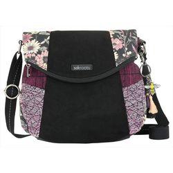 Sakroots Graphite Bloom Fold Over Crossbody Handbag