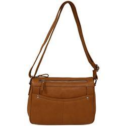 Great American Leather Tuscany Scope Crossbody Handbag