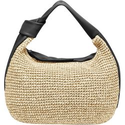 Vince Camuto Shany Leather Woven Hobo