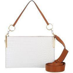 Vince Camuto Dev Solid Leather Crossbody Handbag