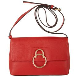 Plum Solid Crossbody Handbag
