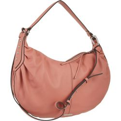 Lysa Solid Leather Hobo Handbag