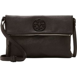 Enzo Angiolini Zippered Crossbody Clutch