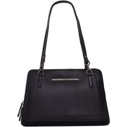 Enzo Angiolini Solid Pocketed Satchel Handbag