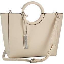 Enzo Angiolini Lanx Ring Handle Satchel Handbag