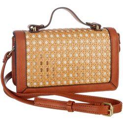 Enzo Angiolini Stefy Woven Wicker Crossbody Handbag