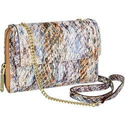 Enzo Angiolini Summer Cobra Crossbody Chain Wallet