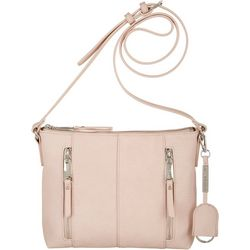 Tebon Two Zipper Pocket Crossbody Handbag
